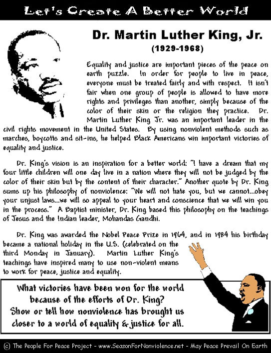 Number Names Worksheets martin luther king worksheets free : Marching Loofah Thing | Badgermama